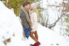 Winter romance Royalty Free Stock Photography