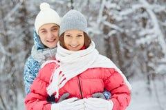Winter romance Stock Photography