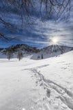 Winter in Romania. Winter day in Mehedinti, Romania Royalty Free Stock Photography