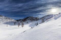 Winter in Romania. Winter day in Mehedinti, Romania Stock Photos