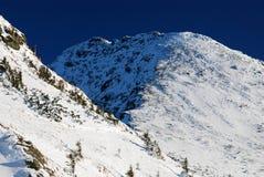 Winter in Romania mountains stock image