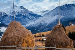 Winter in Romania stock images