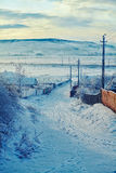Winter in Romanian countryside Stock Images