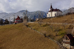 Winter romanian landscape Royalty Free Stock Images