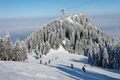 Winter in Romanian mountain stock photos