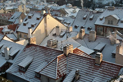 Winter roof Stock Photo
