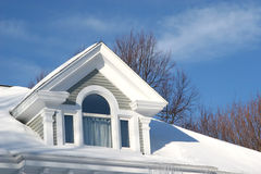 Winter Roof Top Stock Image