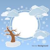 Winter round background Royalty Free Stock Image