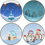 Winter rounded backgrounds Stock Image