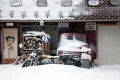 Winter on route 66 Stock Photos