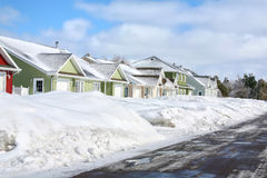 Winter Rowhouses Royalty Free Stock Photos