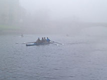 Winter rowing boat race Royalty Free Stock Photography