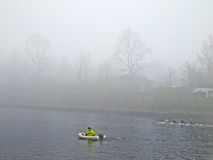 Winter rowing boat race Royalty Free Stock Photos