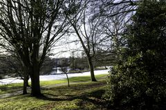 Winter in Royal Leamington Spa - Pump Room / Jephson Gardens. Royal Leamington Spa, Warwickshire, United Kingdom stock images