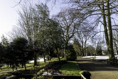 Winter in Royal Leamington Spa - Pump Room / Jephson Gardens. Royal Leamington Spa, Warwickshire, United Kingdom stock photo