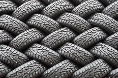 Winter rubber wheels with torns Stock Image