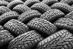 Winter rubber wheels with torns Stock Images