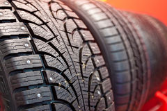 Winter rubber wheels with torns Stock Photography