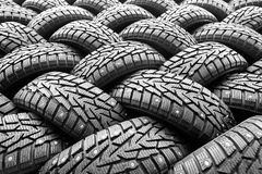 Winter rubber wheels with torns Royalty Free Stock Photos