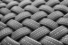 Winter rubber wheels with torns Royalty Free Stock Images