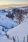 Winter in Rumänien Lizenzfreies Stockbild