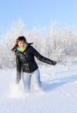 Winter run Stock Image