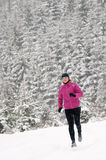 Winter running stock images