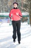 Winter running Stock Photography