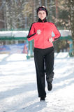 Winter running Stock Photos
