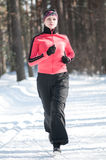 Winter running Royalty Free Stock Images