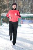 Winter running Royalty Free Stock Image