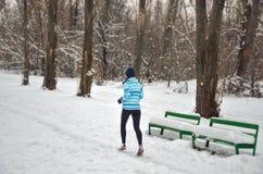 Winter running Royalty Free Stock Photos