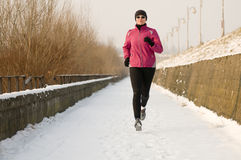 Winter running Royalty Free Stock Photos