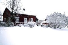 Winter in rural area Stock Image