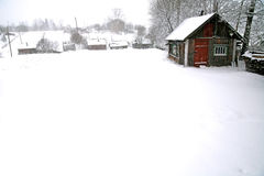 Winter in rural area Stock Photography