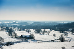 Winter rural countryside landscape Royalty Free Stock Images
