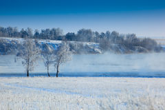 Winter rural landscape. Royalty Free Stock Photos