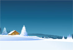Winter rural landscape Stock Photography