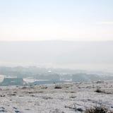 Winter rural landscape Stock Photos