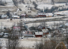 Winter rural landscape Royalty Free Stock Photos