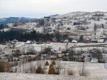 Winter rural landscape Stock Image
