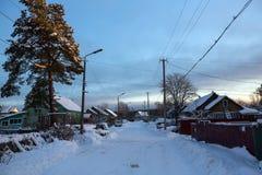 Winter rural landscape. Leningrad region Stock Images