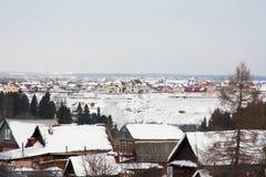 The winter rural landscape Stock Image