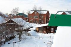 The winter rural landscape Stock Photos