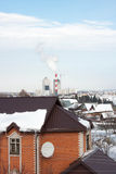 The winter rural landscape Stock Photo