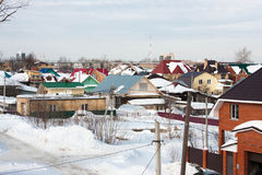 The winter rural landscape. Is in a private sector, Russia Stock Photo