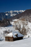 Winter rural landscape in Romania Royalty Free Stock Images