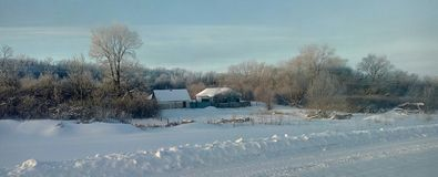 Winter rural landscape. Winter rural landscape in the Voronezh region of Russia Stock Images