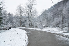 Winter rural road Royalty Free Stock Image