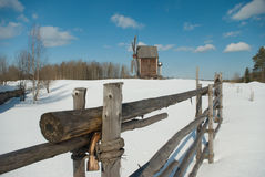 Winter rural russian landscape royalty free stock photography